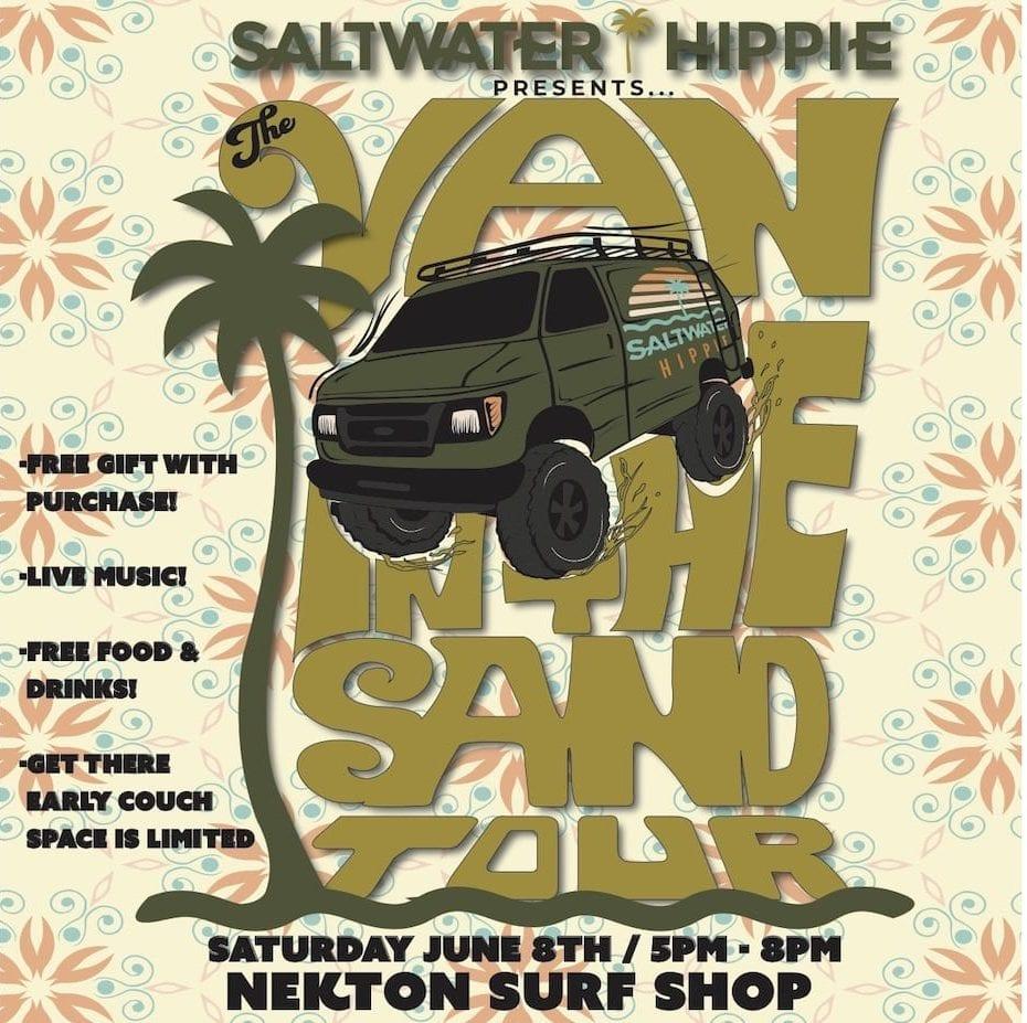 Nekton x Saltwater hippie Van in the Sand Tour